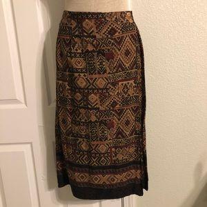 Sag Harbor Petite, L, tribal looking skirt, unique